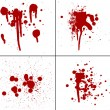 Blood splatter red horror bloody gore drip murder violence - Stock Photo