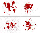 Blood splatter red horror bloody gore drip murder violence — Stock Photo