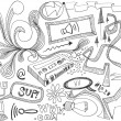 Hand drawn doodles design elements scetch scribbles drawing — Stock Photo #5922427