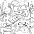 Stock Photo: Hand drawn doodles design elements scetch scribbles drawing