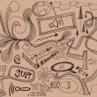 Hand drawn doodles design elements scetch scribbles drawing — Stock Photo
