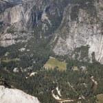 Yosemite rock walls hiking sierra vacation valley scenic rock na — Stock Photo