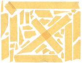 Masking tape - isolated grunge stick adhesive piece paper scotch — Stock Photo