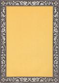 Vintage border frame - grungy copyspace design background brown — Stock Photo