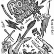 Rock Star Doodles — Stock Photo