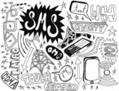 Cell Phone Doodles - high quality — Stockfoto