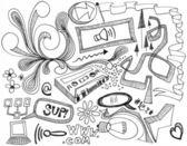 Random Doodles - Hand drawings — Stock Photo