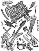 Rock Star Doodles — Stock Photo