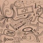 Random hand drawn doodles — Stock Photo