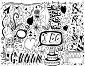 XXXL - Wedding Doodles — Stock Photo