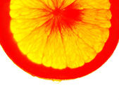 Juicy orange. Abstraction. Color — Stock Photo