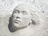 Sand Sculpture — Stock Photo