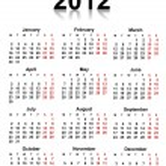 2012 calendar — Stock Photo #6471506