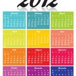 2012 calendar — Stock Photo #6471507
