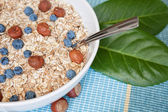 Oat nuts with blueberries — Stock Photo
