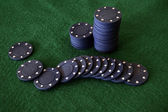 Blue poker chips — Stock Photo