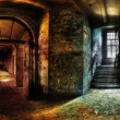 Stock Photo: Abandoned Hallway Panorama