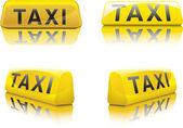 Taxi Sign — Stock Vector