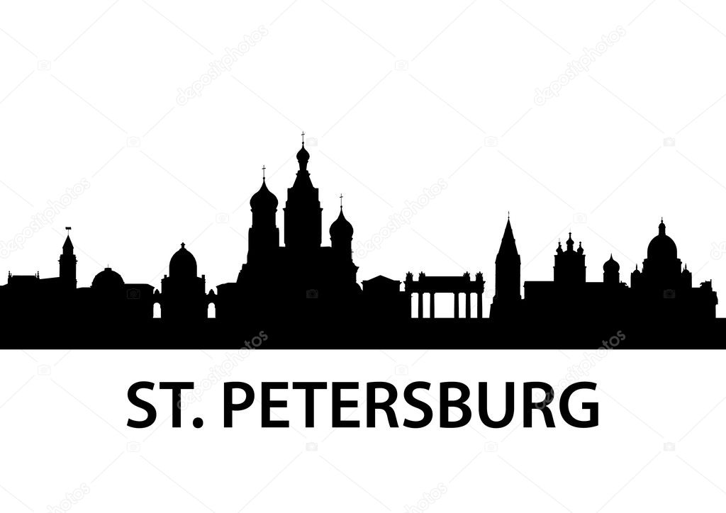 Detailed illustration of St. Petersburg, Russia  Stock Vector #5795787