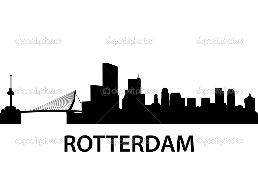 Detailed illustration of Rotterdam, Netherlands — Stock Vector #5795790