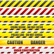 Stock Vector: Caution lines