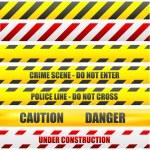 Uyarı çizgileri — Stok Vektör