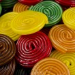 Colorful candy wheels — Stock Photo