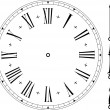 Old clock face - Stock Vector