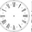 Old clock face — Stock vektor #6223977