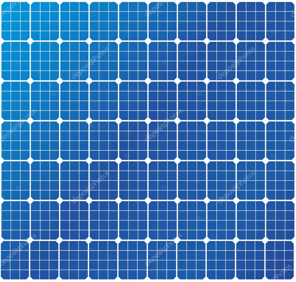 Illustration of a solar cell pattern, eps8 vector — 图库矢量图片 #6242062
