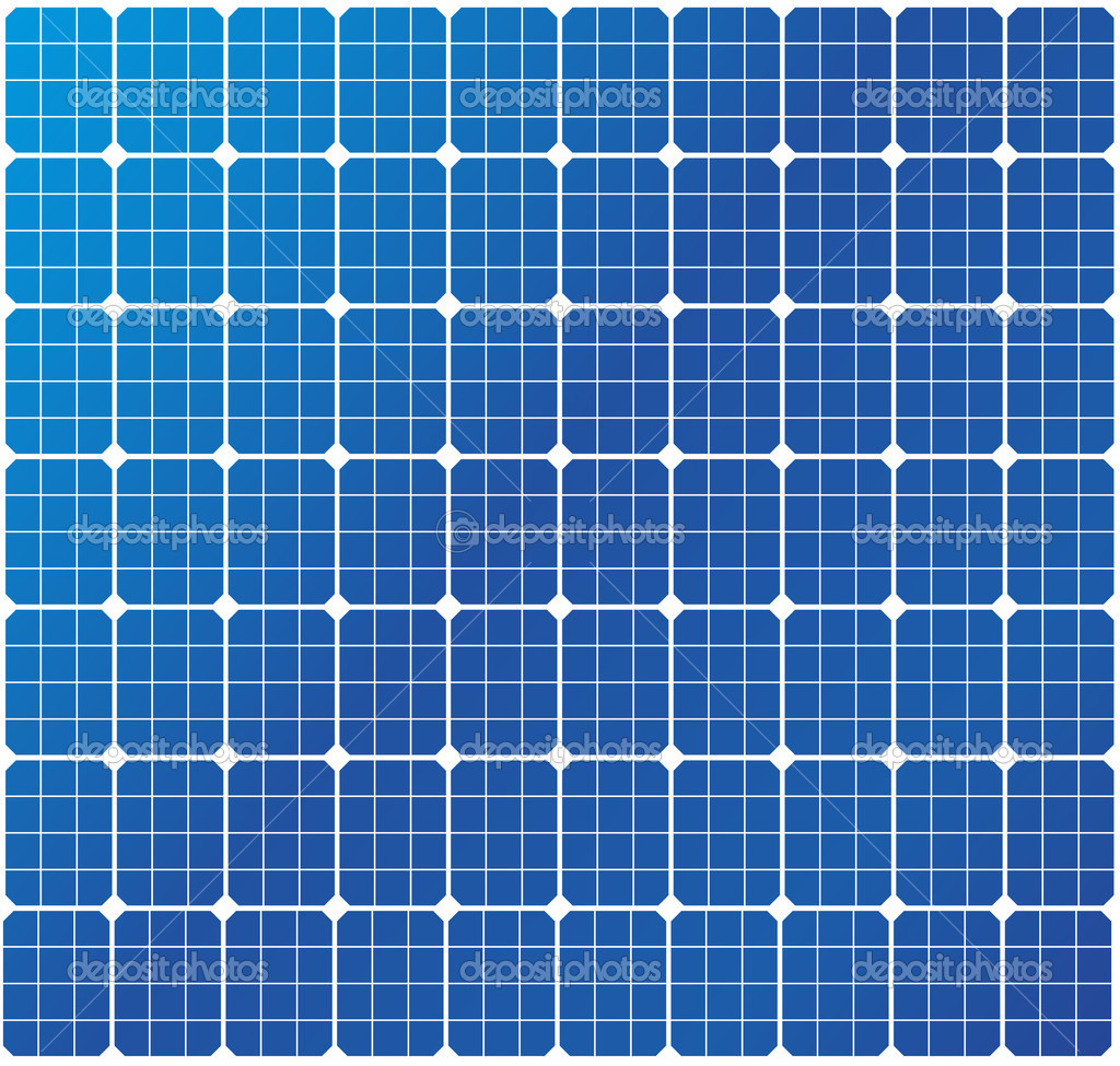 Illustration of a solar cell pattern, eps8 vector  Vettoriali Stock  #6242062