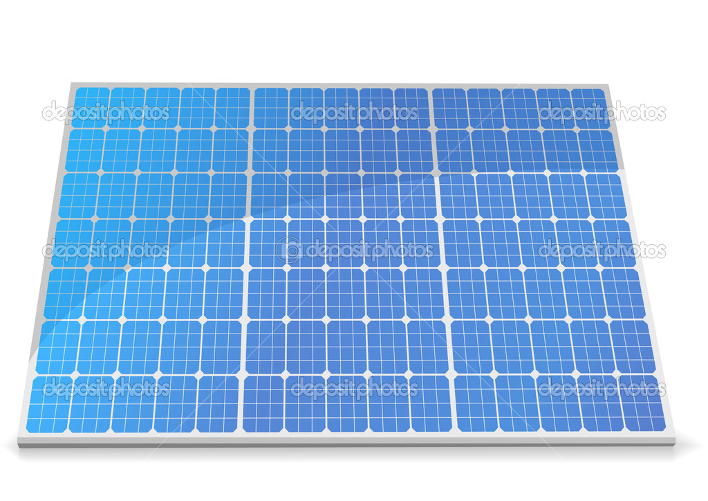 Illustration of a solar cell module, eps8 vector — Stock Vector #6242105