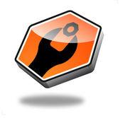 Mantenimiento de botón — Vector de stock