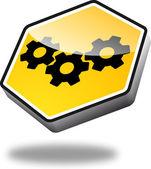 Button Cogwheels — Stock Vector