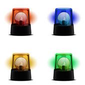 Varie luci lampeggianti — Vettoriale Stock