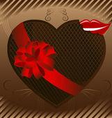 Chocolate heart — Stock Vector