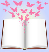 Book and butterfly — Vecteur