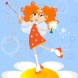 Orange fairy — Stock Vector #5638878