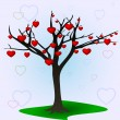 Tree and hearts — Stock Vector