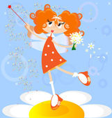 Orange fairy — Stock Vector