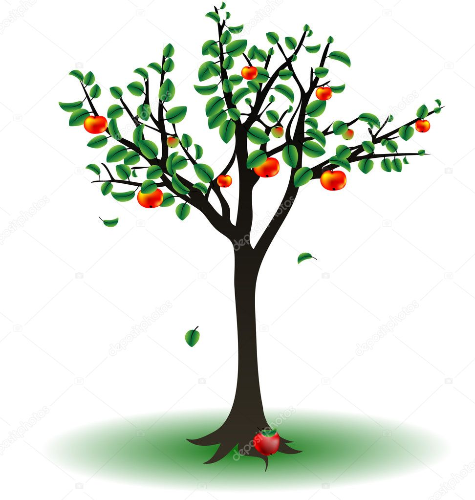 apple tree stock vector  u00a9 dankalilly 5698882 fruit stand clipart Fruit Stand Clip Art Black and White