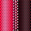 Royalty-Free Stock Vector Image: Red and black lace