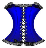 Blue corset — Stock Vector