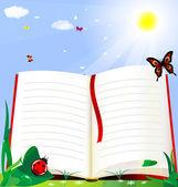 书和性质 — 图库矢量图片