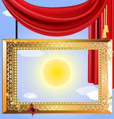 Heaven portrait — Stock Vector