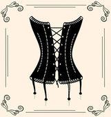 Vintage corset — Stock Vector