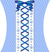 White-blue coquettish lace — Stock Vector