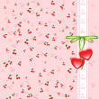 Background funny cherry - Stock Vector