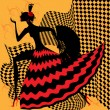 Stock Vector: Flamenco dancer