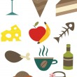 Food icons — Stock Vector #5995651